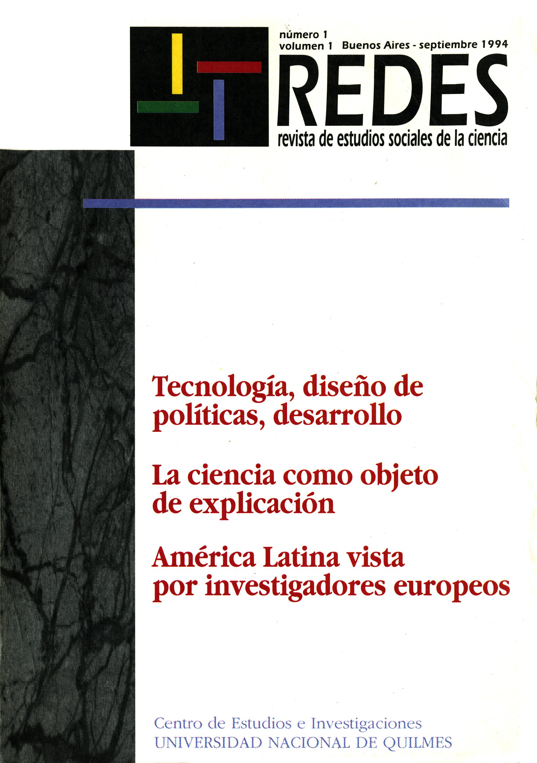 Redes. Revista de Estudios Sociales de la Ciencia y la Tecnología