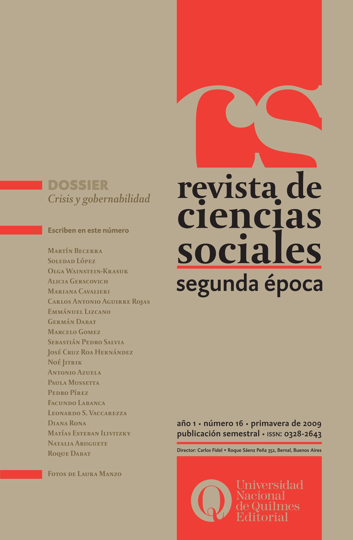 Revista de Ciencias Sociales. Segunda época