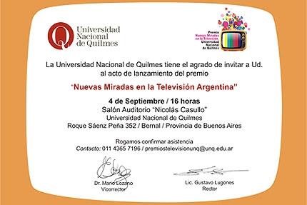 Premio quotNuevas miradas en la televisioacuten argentinaquot