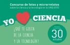 Concurso de fotos y microrrelatos sobre la ciencia