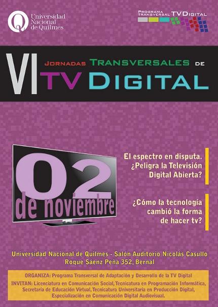 VI Jornadas Transversales de TV Digital