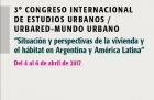 3 Congreso Internacional de Estudios Urbanos