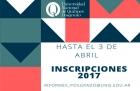 Prórroga de inscripciones a carreras de posgrado 2017