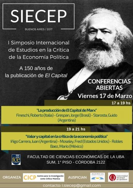 I Simposio internacional de estudios en la criacutetica de la Economiacutea poliacutetica