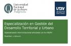Acreditación de la Especialización en Gestión del Desarrollo Territorial y Urbano