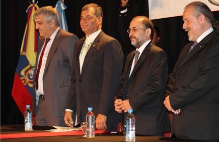 Rafael Correa en la UNQ