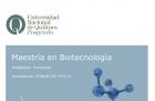 Nueva carrera Maestría en Biotecnología