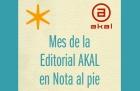 Mes de Editorial Akal en Nota al pie