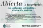 Acreditación de la Especialización en Biocatálisis y Biotransformaciones