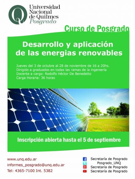 Desarrollo y aplicacioacuten de las energias renovables