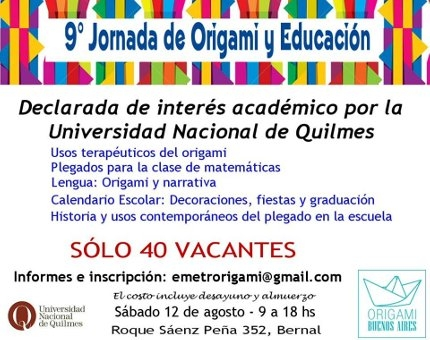 9ordm Jornada de Origami y Educacioacuten