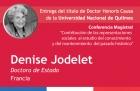 Denise Jodelet recibirá el Doctorado Honoris Causa en la UNQ
