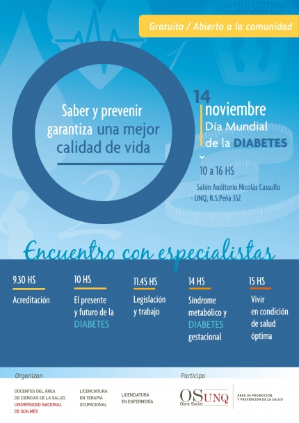 Diacutea mundial de la Diabetes en la UNQ