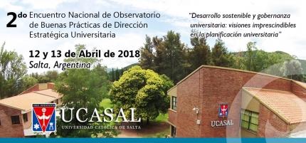 2 Encuentro del Observatorio Argentino de Buenas Prácticas en Gestión Estratégica Universitaria