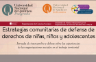 Estrategias comunitarias de defensa de derechos de niñas niños y adolescentes