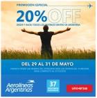 20 de descuento en pasajes de Aerolineas Argentinas