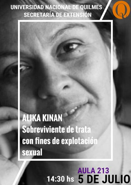 Alika Kinan expondraacute en la UNQ