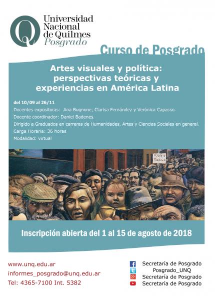 Artes visuales y poliacutetica perspectivas teoacutericas y experiencias en Ameacuterica Latina