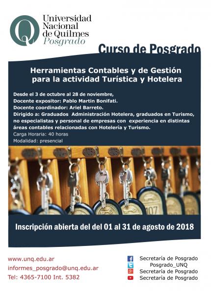 Herramientas Contables y de Gestioacuten para la actividad Turiacutestica y Hotelera
