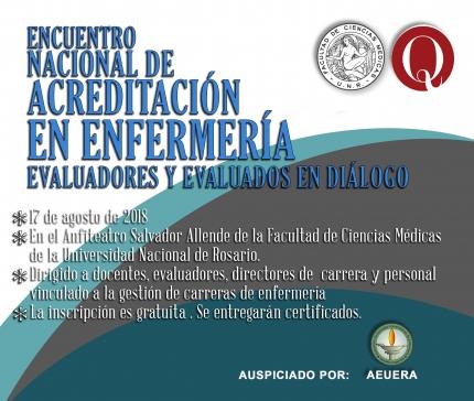 1ordm Encuentro Nacional de Acreditacioacuten en Enfermeriacutea