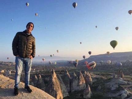 Mariano Ezequiel Orlando estudiante de Comunicacioacuten Social en Turquiacutea