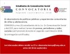 Convocatoria para estudiantes de Comunicación Social
