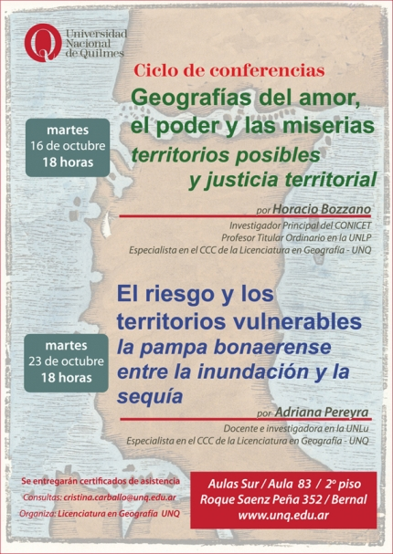 Ciclo de conferencias en Geografiacutea