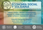 Comienza la I Semana Nacional de la Economía Social y Solidaria en la UNQ