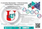 X Jornadas Nacionales y I Internacionales Universidad y Discapacidad