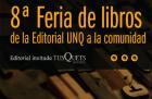8 Feria de libros de la Editorial UNQ