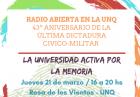 Radio abierta en la UNQ
