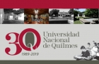 Agenda de actividades por los 30 años de la UNQ