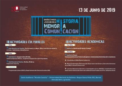 XI Jornadas de Historia Memoria y Comunicacioacuten