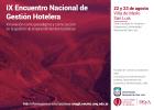 IX Encuentro Nacional de Gestión Hotelera