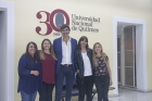 Visita del  Dr Jordi  Casademont en la UNQ