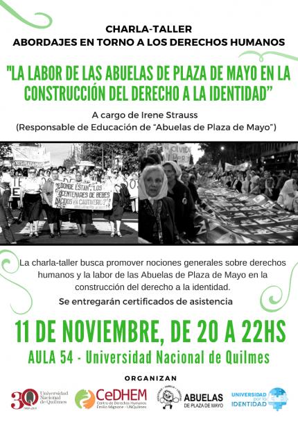 La labor de las Abuelas de Plaza de Mayo en la construccioacuten del derecho a la identidad