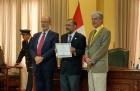 El Rector de la UNQ fue nombrado Visitante distinguido en Lima