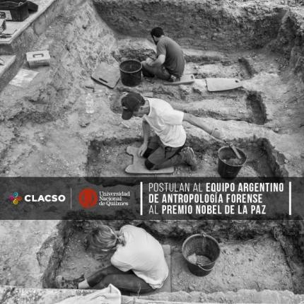 La UNQ y Clacso postulan al Equipo Argentino de Antropologiacutea Forense al Nobel de la Paz
