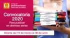 Convocatoria 2020 de la Unidad de publicaciones de Ciencias Sociales