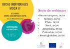 Seminarios Web informativos para la convocatoria de MSCA -Programa Horizonte 2020