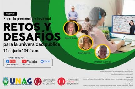 Webinars de la UNQ en la Universidad Nacional de Agricultura UNAG