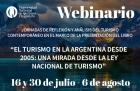 Webinaro sobre las Jornadas de Reflexión y Análisis sobre el turismo contemporáneo