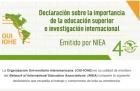 Declaración sobre la importancia de la educación superior y la investigación internacional