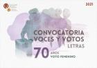Convocatoria Voces y votos