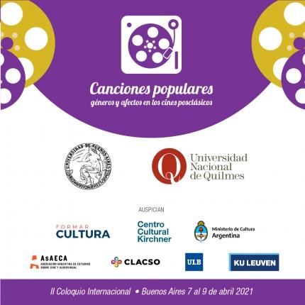 II Coloquio Internacional Canciones populares geacuteneros y afectos en los cines posclaacutesicos