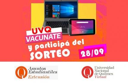 UVQ Vacunate y participaacute del sorteo