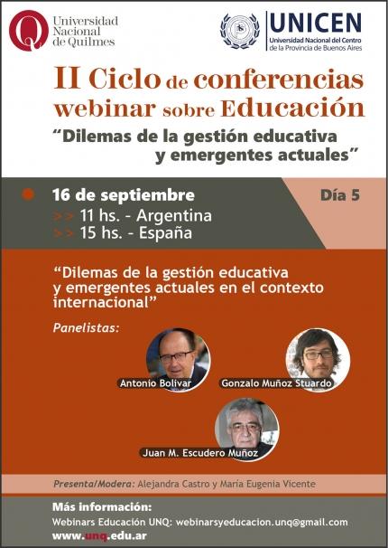 5ta jornada del II Ciclo de conferencias webinar sobre educación